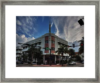 South Beach - Tudor Hotel 001 Framed Print by Lance Vaughn