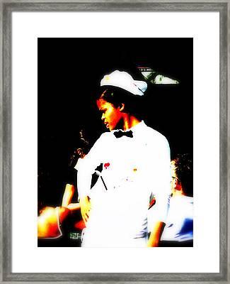 South Beach Waitress Attitude Framed Print by Funkpix Photo Hunter