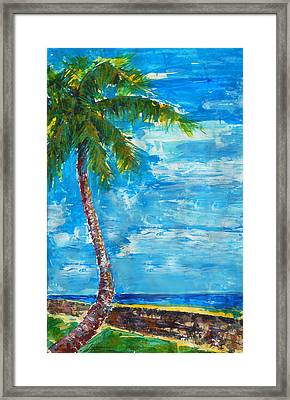 Framed Print featuring the painting South Beach Wall by Thomas Lupari