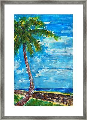 South Beach Wall Framed Print