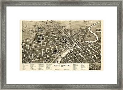 South Bend Indiana 1890 Framed Print