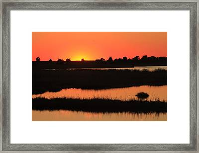 South Cape Beach Marshes At Sunset Framed Print by John Burk