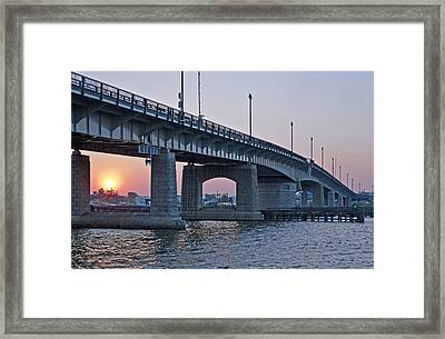 South Capitol Street Bridge Over Anacostia River In Washington Dc Framed Print by Brendan Reals