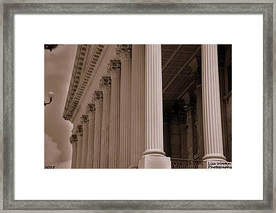 South Carolina State House Columns  Framed Print