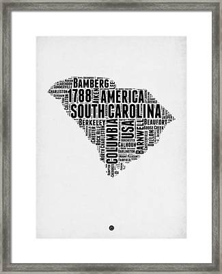 South Carolina Word Cloud 1 Framed Print