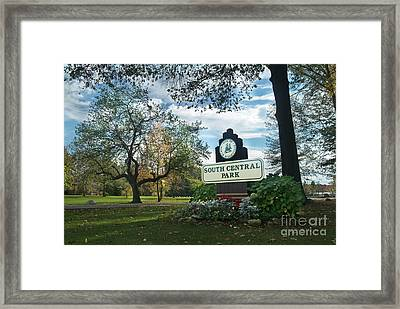 South Central Park - Autumn Framed Print