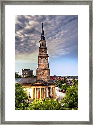 South Charleston Skyline Framed Print by Drew Castelhano