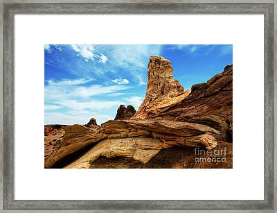 South Coyote Buttes Arizona Framed Print by Bob Christopher