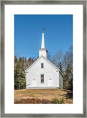 South Cushing Baptist Church Framed Print by Tim Sullivan