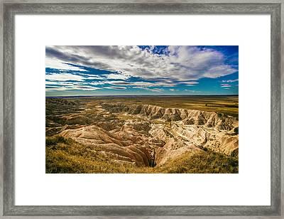 South Dakota Bad Lands.... Framed Print