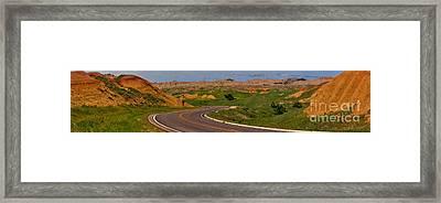 South Dakota Badlands Highway Framed Print