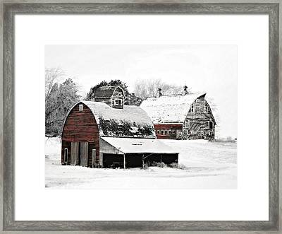 South Dakota Farm Framed Print