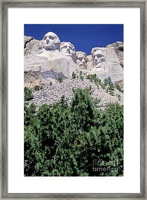 South Dakota, Keystone  Mount Rushmore Framed Print by American School
