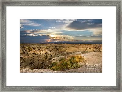 South Dakota Sunrise Framed Print