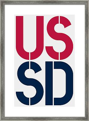 South Dakota Framed Print by Three Dots