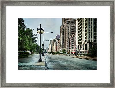 South Down Michigan Avenue Framed Print by Noah Katz