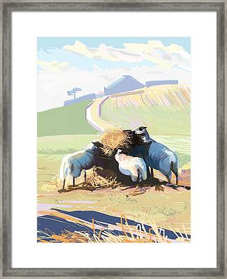 South Downs Way Framed Print