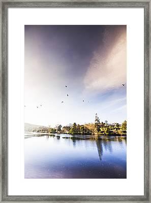 South-east Tasmania River Landscape Framed Print by Jorgo Photography - Wall Art Gallery