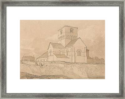 South-east View Of The Church Of Lery Framed Print