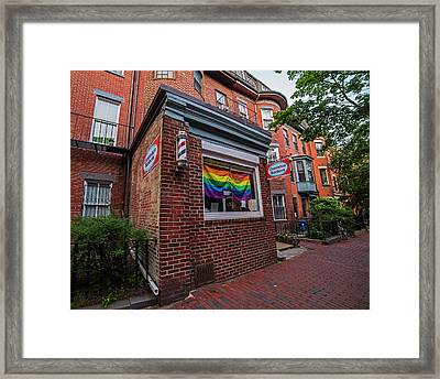 South End Gay Pride Month Flag Boston Ma Framed Print by Toby McGuire