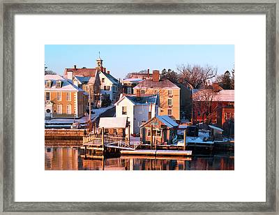 South End Golden Sunrise Framed Print by Eric Gendron