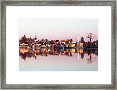South End Reflections Framed Print by Eric Gendron