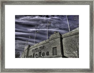 South End Soldier Field Framed Print by David Bearden
