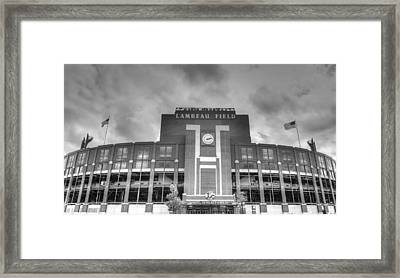 South End Zone Lambeau Field Framed Print