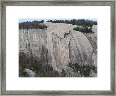 South Face - Stone Mountain Framed Print