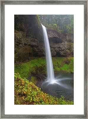 South Falls At Silver Falls State Park Framed Print by David Gn