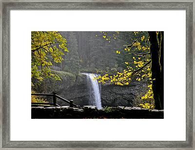 South Falls Of Silver Creek Framed Print
