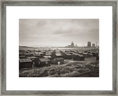 South Gare Teeside Fishing Huts Framed Print by Ian Barber