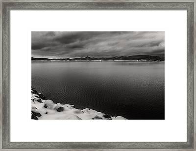 South Holston Snow Bandw Framed Print