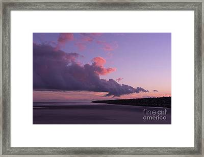South Jetty At Sunset Framed Print