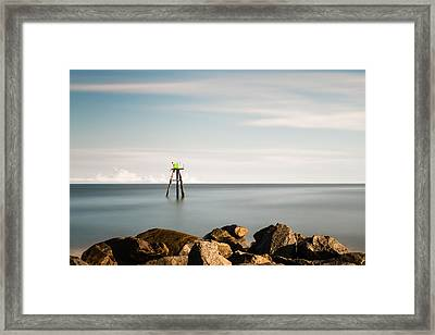 South Jetty Marker Framed Print
