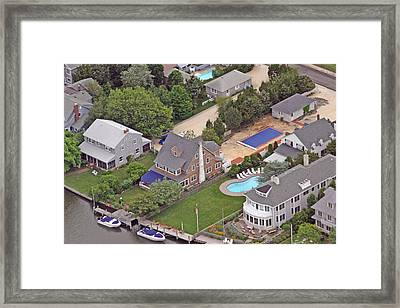 South Lagoon House Mantoloking New Jersey II Framed Print