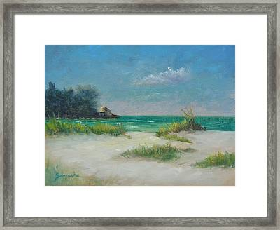 South Lido Morning By Alan Zawacki  Framed Print