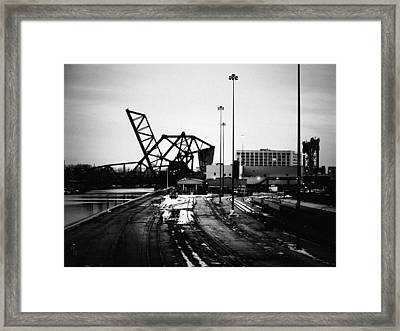 South Loop Railroad Bridge Framed Print