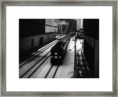 South Loop Railroad Framed Print by Kyle Hanson