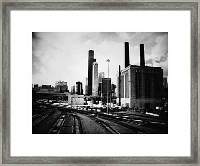 South Loop Railroad Yard Framed Print