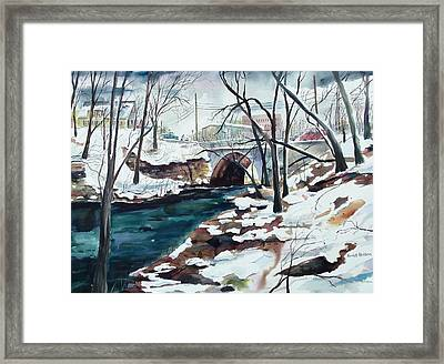 South Main Street Bridge Framed Print by Scott Nelson