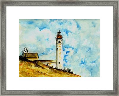 South Manitou Island Lighthouse Framed Print by Michael Vigliotti