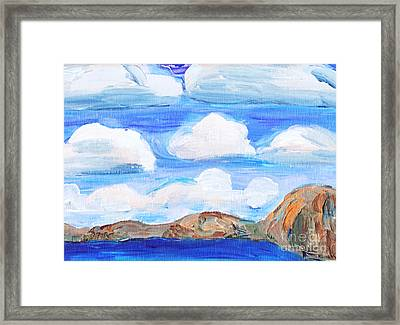 South Morro Bay View To North Framed Print