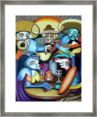 South Of The Boarder Framed Print by Anthony Falbo