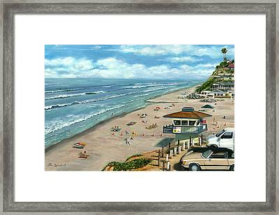 South On Moonlight Framed Print