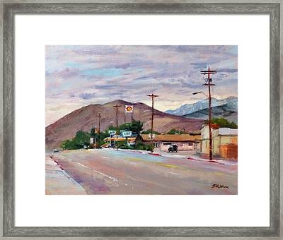 South On Route 395, Big Pine, California Framed Print