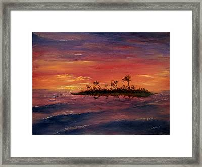 South Pacific Atoll Framed Print by Jack Skinner