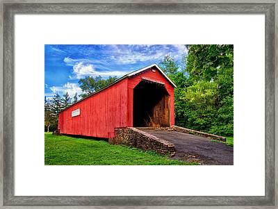 South Perkasie Covered Bridge Framed Print