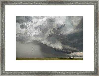 South Plains Hail Core Framed Print