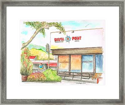 South Point Restaurant, West Hollywood, California Framed Print by Carlos G Groppa